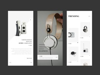 High-end device app interface