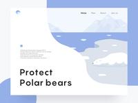 Protect polar bear illustrations