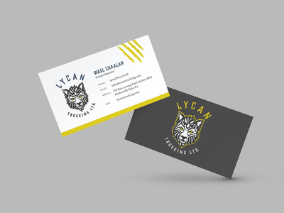Business Card Design lycan wolf design print design branding design branding business card