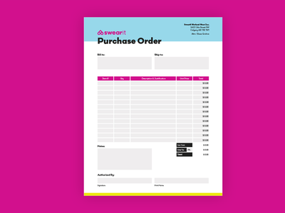 Purchase Order print design forms form design graphicdesign purchase order