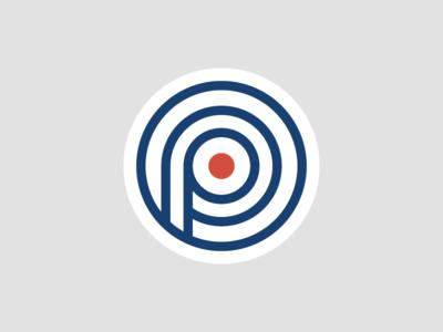 Logomark wip branding bullseye logo logomark