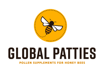 Logo Design for Pollen Supplements bee logo identity branding flat logomark logo