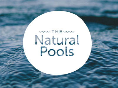 The Natural Pools Logo Design branding identity logo