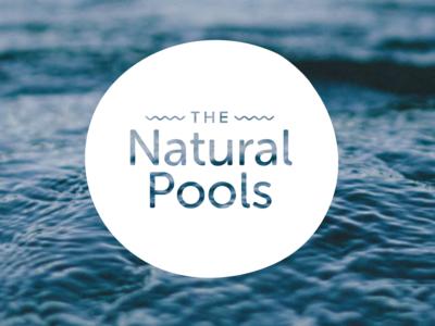 The Natural Pools Logo Design branding identity logo