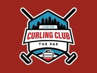 Logo design for The Pas Junior Curling Club