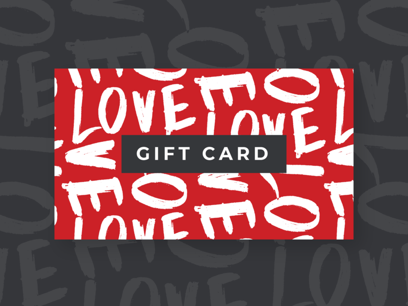 Valentines Day Gift Card Design typography design gift certificate card design print design valentines gift card