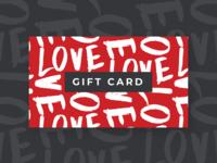 Valentines Day Gift Card Design