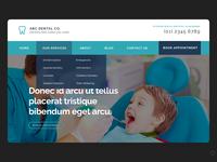 Dentist Website Mockup