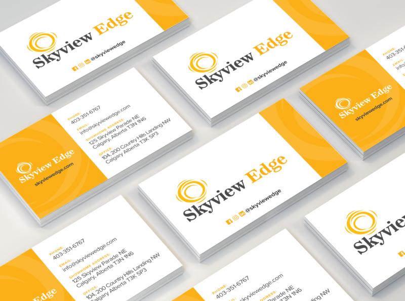 Business Card Design yellow print design business cards design business cards print flat design