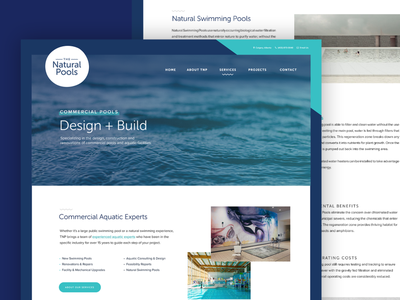 Website design for Pool Builder web webdesign website design homepage website flat