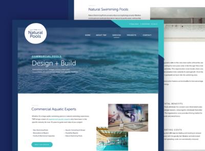 Website design for Pool Builder web webdesign website design homepage website flat