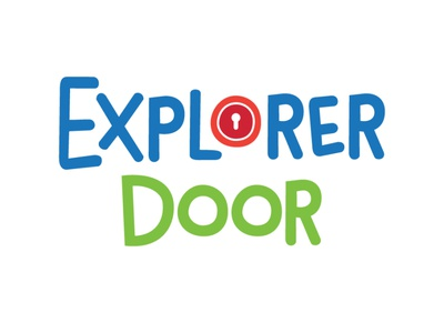 Explorer Door Logo Design logomark identity design branding flat logo