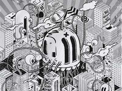 System Overload procreateapp procreate illustration