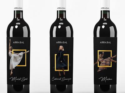 ARRABAL wine label design labeling package package design logo design design logo branding