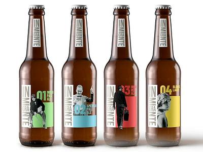 inmigrante nomad beer typography labeling label design package design package logo design design logo branding
