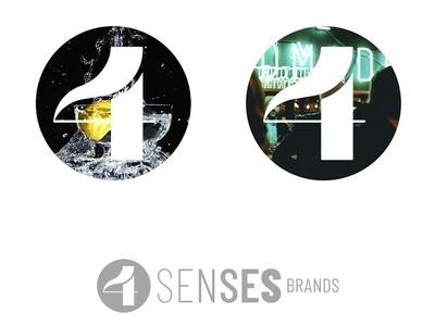 4 senses brands logo design design logo branding