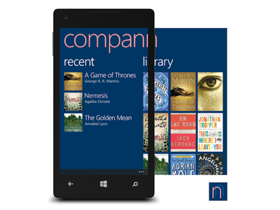 Compann - book companion app concept windows phone app book companion ui