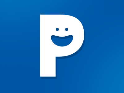 Logo p smiley logo branding