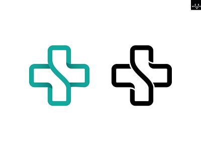 Healthcare startup logo logo branding s healthcare ai cross
