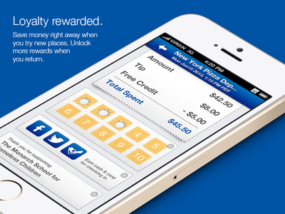 Mobile Wallet app (iOS 6 version) ios ios6 iphone mobile app payment loyalty receipt punchcard ui