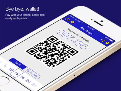 Mobile Wallet app (iOS 7 version) ios ios7 iphone mobile app payment loyalty receipt flat ui