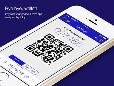 Mobile Wallet app (iOS 7 version) ios ios7 iphone mobile app payment loyalty receipt flat ui