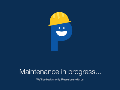 Maintenance in progress... maintenance down downtime 404 illustration