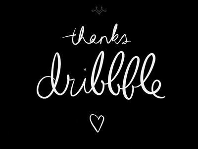 Thanks, Dribbble! debut thanks dribbble invite