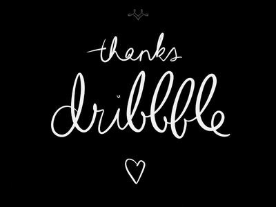 Thanks, Dribbble!