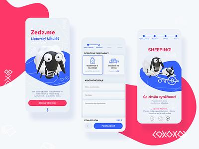 Delivery app Zedz.me covid 19 branding 3dillustration shipping sheep visual design application ui design illustration shoping icon delivery delivery app interface blender3d 3d app design ui