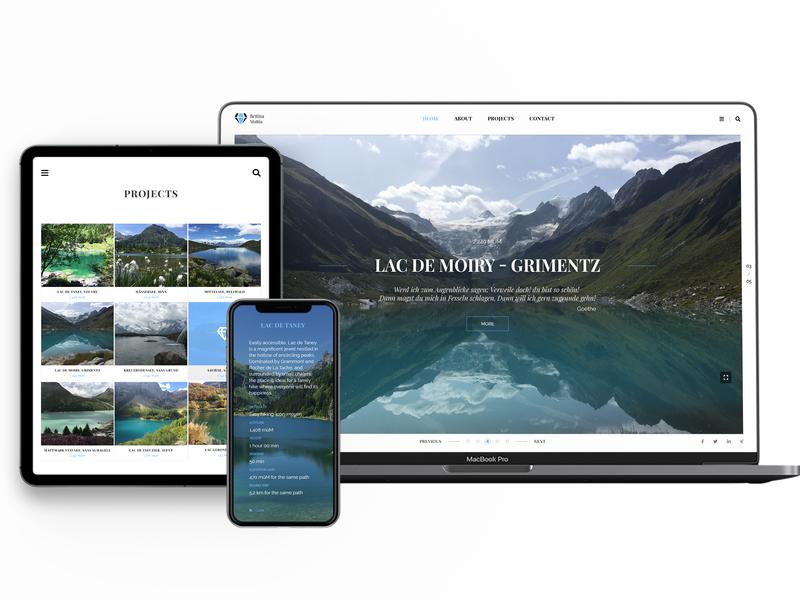 Website Fotograf Profesionist typography wordpress branding web design