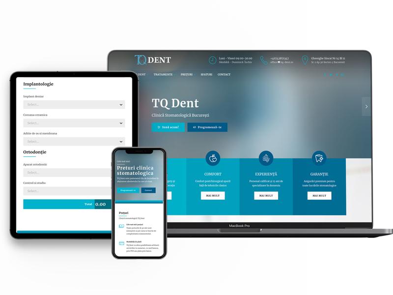 Website Cabinet Dentar wordpress design typography branding web design