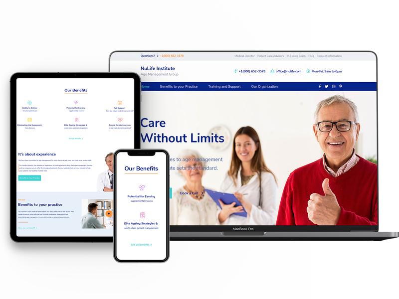 Website Institut Medical wordpress design typography branding web design