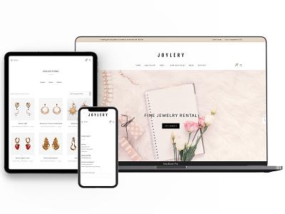 Magazin online inchiriere bijuterii ux developement woocomerce wordpress web design branding
