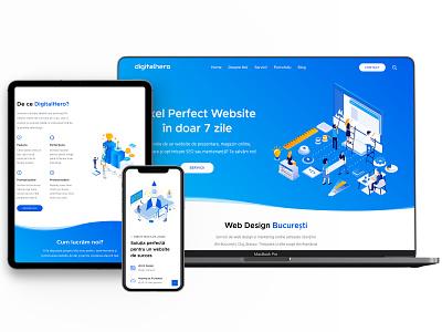 Website agentie digitala vector developement wordpress design ux web design branding