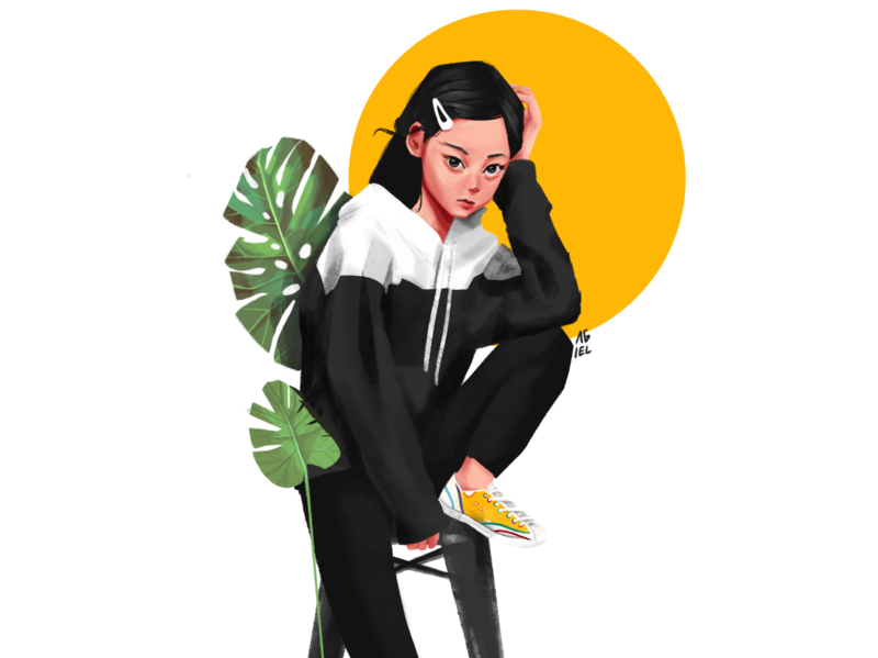Nana Ouyang   Illustration cute girl character illustration digital painting procreate character design illustration art