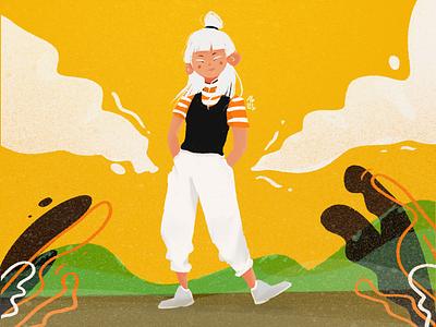 Walking around procreate illustration character design art