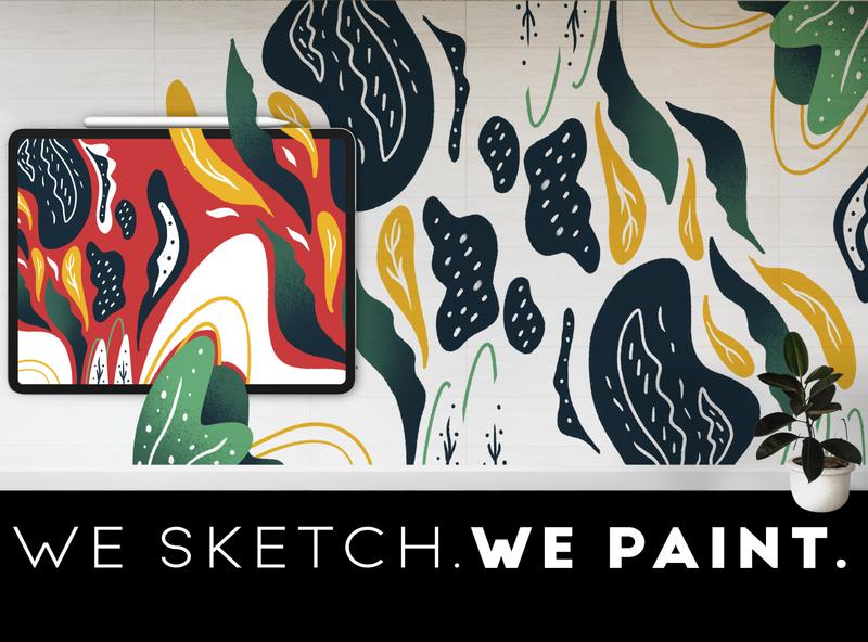 Flora   Mural Design design branding digital painting procreate illustration art