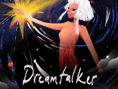 Dream Talker girl character illustration procreate character design whimsical illustration art