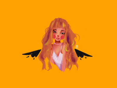 Broken Angel cute girl character illustration digital painting procreate character design illustration art
