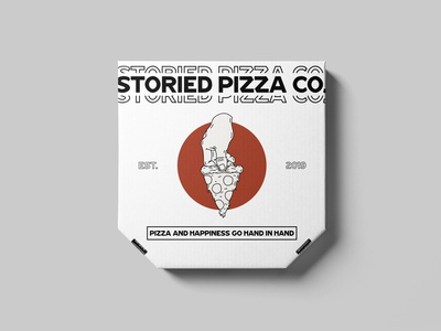 Storied Pizza Co. // Pizza Box Mockup