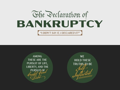 Declaration of Bankruptcy   Michael Scott i declare bankruptcy the office michael scott bankruptcy bankrupt declaration design typography typelockup type
