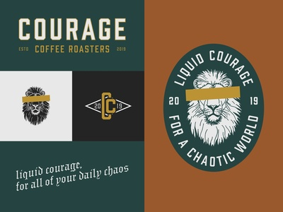 Courage Coffee Branding