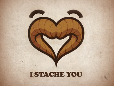 happy valentines day stache moustache vector. vectors illustration