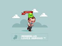 Brainslug Loves Humans - iPhone Wallpaper