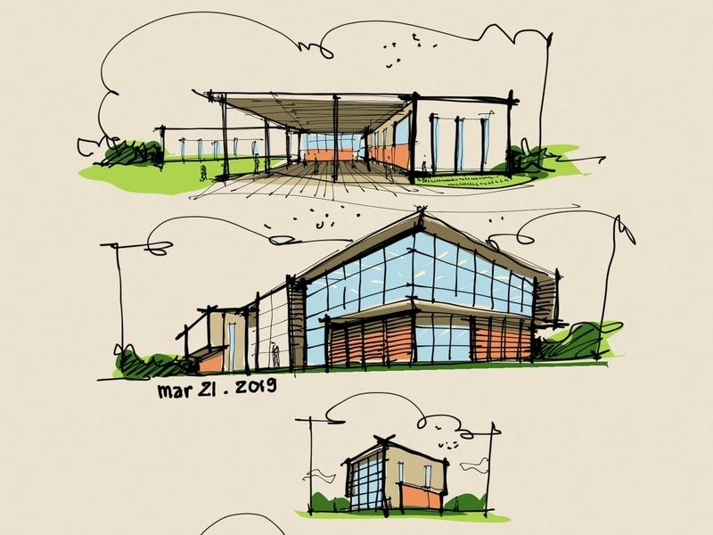 Architectural Concept creative sustainability procreate architecture sketch design art digital illustration