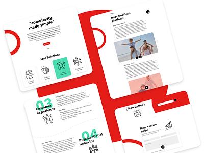 Global Link - Website redesign website marketing ux ui design web