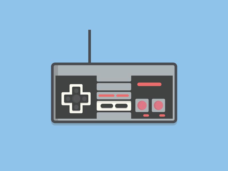 Gamer video game grey black red illustration