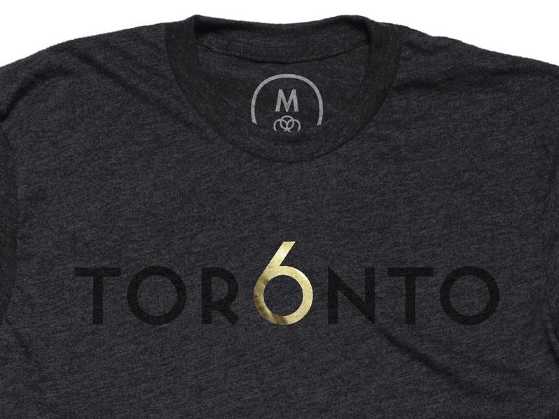 Tor6nto charcoal t-shirt gold foil toronto
