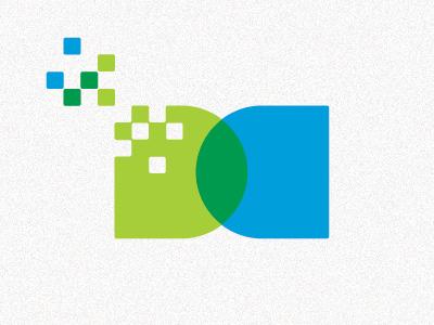 DC d c pixels data blue green
